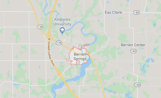 map of Berrien Springs Michigan