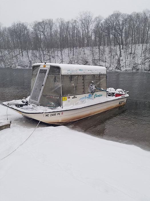 river fishing charter skiff
